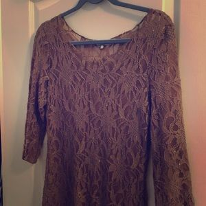 BKE LACE SHEER TOP